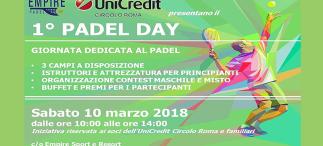 1° Padel Day: sabato 10 marzo