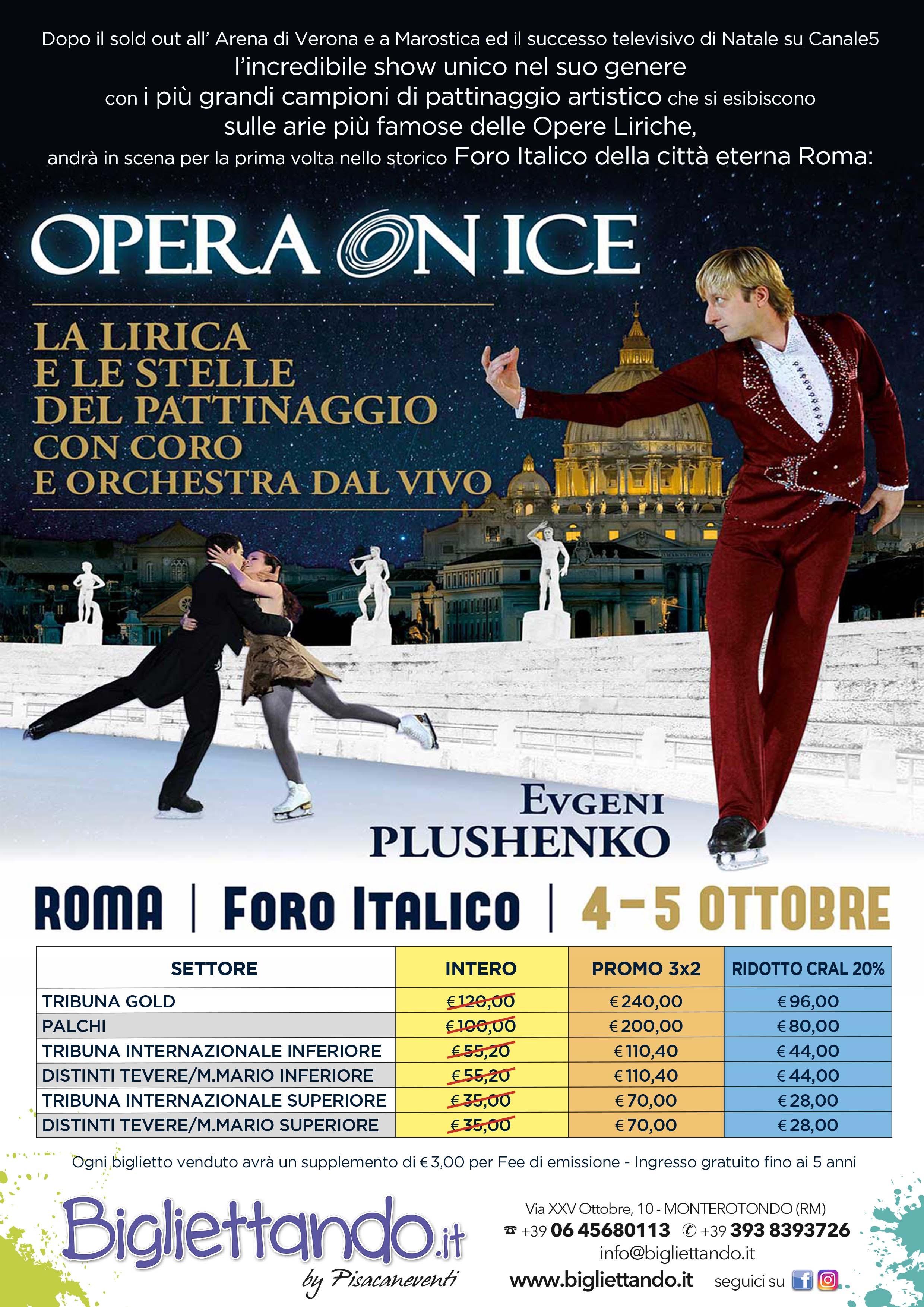"Tariffe dedicate ""OPERA ON ICE""- Foro Italico 4 e 5 ..."